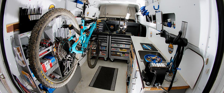 Atelier mobile de réparation de vélo