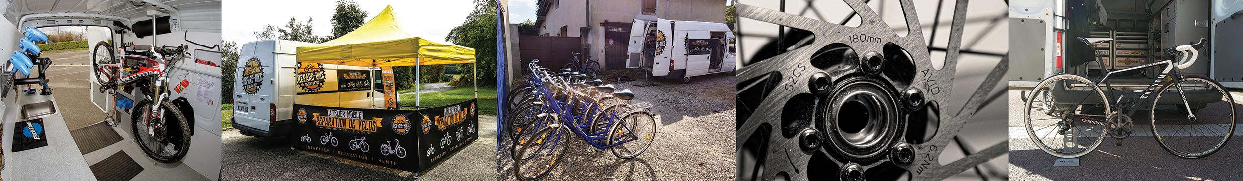 réparation et entretien parc vélo - atelier mobile